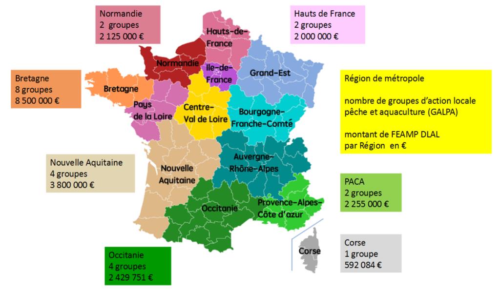 carte répartition des fonds du GALPA