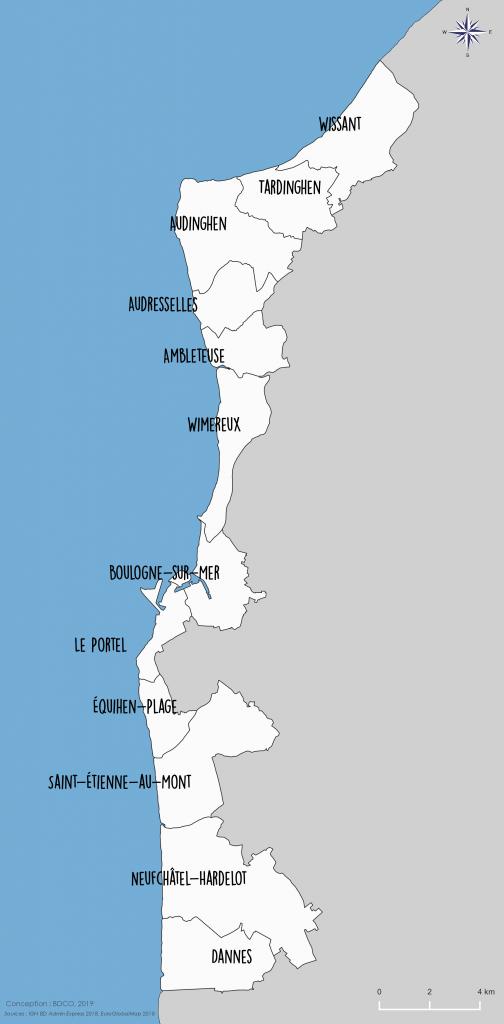 carte du périmètre du GALPA Littoral Opale